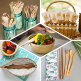 "25 Pack | 6"" Eco Friendly Chic Disposable Bamboo Knives 