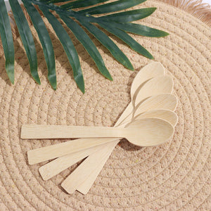 25 Pack - Chic Disposable Bamboo Spoons