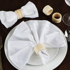 4 Pack Eco-Friendly Rustic Grace Disposable Wooden Napkin Rings