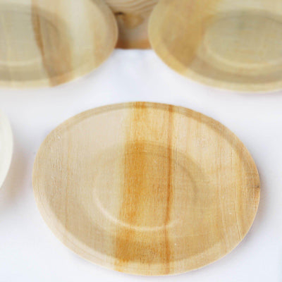 "25 Pack 6"" Birchwood Disposable Round Salad Dessert Plates"