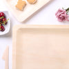 "12 Pack | 10.5""x8.5"" Stylish Sustainable Birchwood Rectangle Disposable Plate"