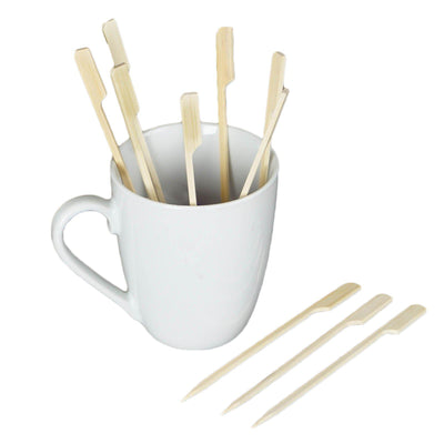 "100 Pack 5.75"" Disposable Bamboo Paddle Picks"