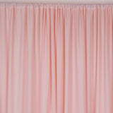 20ftx10ft Blush | Rose Gold Double Layer Polyester Chiffon Backdrop With Rod Pockets
