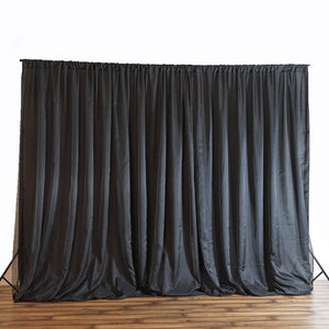 20FT x 8FT Black Chic-Inspired Backdrop Curtain