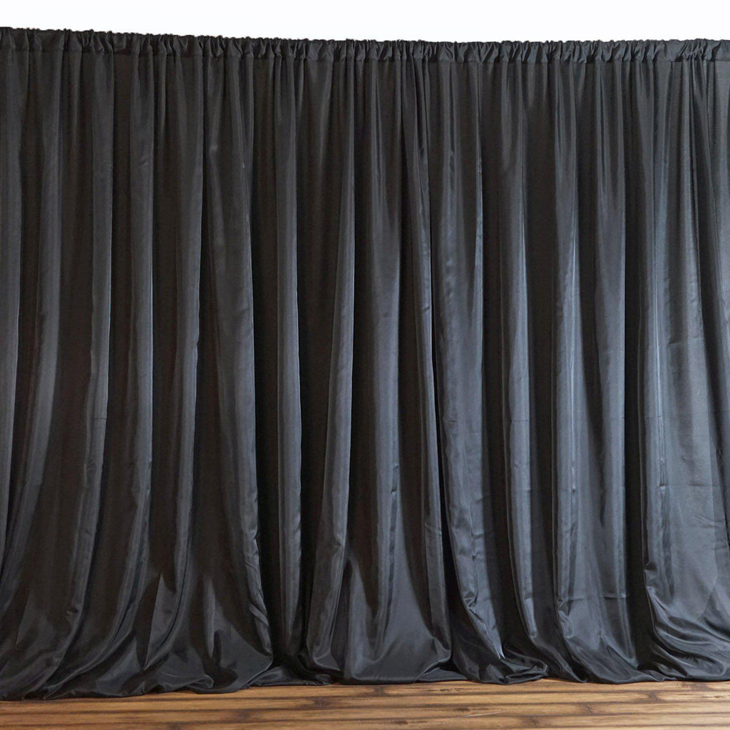 20ftx10ft Black Double Layer Polyester Chiffon Backdrop