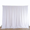 20FT x 10FT | White Double Layer Polyester Chiffon Backdrop With Rod Pockets