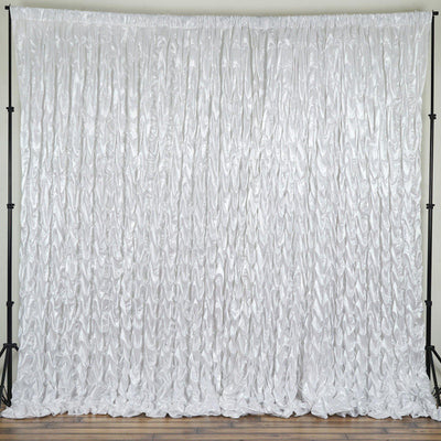 20ft x 10ft Polyester Lamour Wedding Party Event Photography Backdrop - White