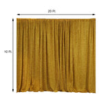 20FT x 10FT Gold Metallic Shiny Spandex Glittering Backdrop