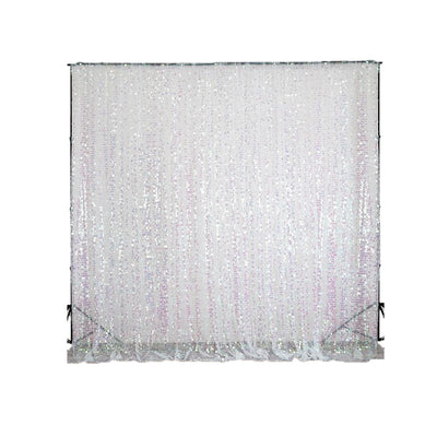 20FT Rainbow Iridescent Large Payette Sequin Curtain Panel Backdrop Wedding Party Photography Background
