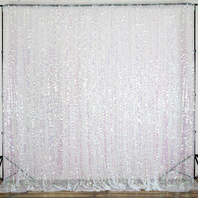 20FT Rainbow Big Payette Sequin Curtain Panel Backdrop Wedding Party Photography Background - 1 PCS
