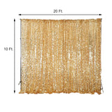 20FT Gold Big Payette Sequin Curtain Panel Backdrop Wedding Party Photography Background - 1 PCS