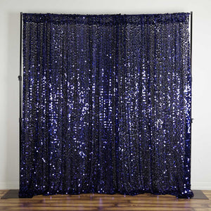 20FT Navy Blue Big Payette Sequin Curtain Panel Backdrop Wedding Party Photography Background - 1 PCS