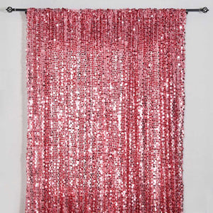 20FT Pink Big Payette Sequin Curtain Panel Backdrop Wedding Party Photography Background - 1 PCS