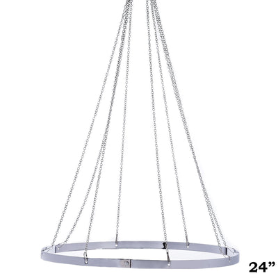 "8 Panel 24"" Hoop Ceiling Draping Hardware Kit For Wedding Party Banquet Event - FREE Tool Kit"