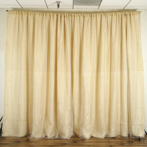20ft x 10ft Rustic Burlap Wedding Party Event Photography Backdrop - Natural