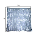 18FT x 9FT | 600 Sequential Cool LED Lights BIG Photography Organza Curtain Backdrop