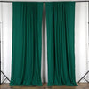 Pack of 2 | 5FTx10FT Hunter Emerald Green Fire Retardant Polyester Curtain Panel Backdrops With Rod Pockets
