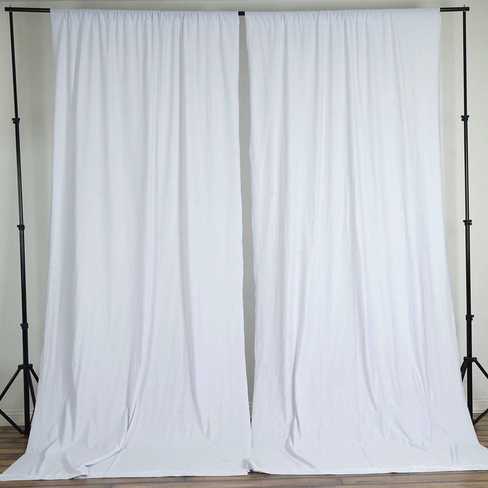 10FT White Polyester Curtain Stage Backdrop Partition