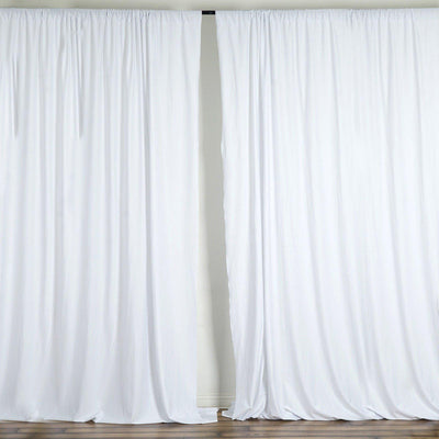 10FT White Polyester Curtain Stage Backdrop Partition - Premium Collection