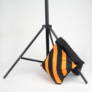 4 Pack Double Zipper Nylon Sand Weight Saddle Bag For Light Backdrop Stands Tripods - Orange/Black