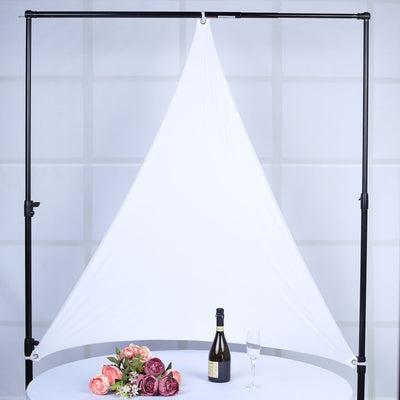 6 Ft 3 Point White Spandex Ceiling Wall Patio Sunshade Sails with Grommets