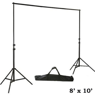8' x10' Adjustable Heavy Duty Pipe and Drape Kit Wedding Photography Backdrop Stand