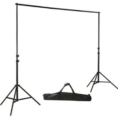 8FT x 10FT - DIY Metal Adjustable Pipe and Drape Kits - Portable Photography Backdrop Stand - Photo Video Studio Backdrop Stand