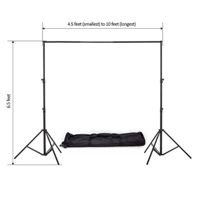 6.5FT x 10FT - DIY Metal Heavy Duty Adjustable Pipe and Drape Kits - Photography Backdrop Support Stand