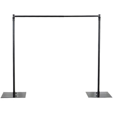 10FT x 10FT - DIY Adjustable Metal Heavy Duty Backdrop Stand - Photography Backdrop Stand Kit with Weighted Steel Base