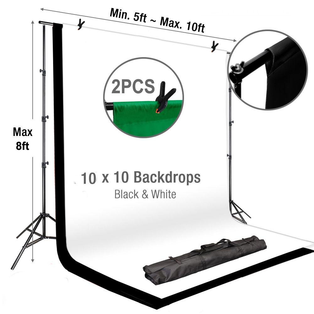Tableclothsfactory 8ft x10ft Adjustable Crossbar Kit Wedding Photography Backdrop Stand