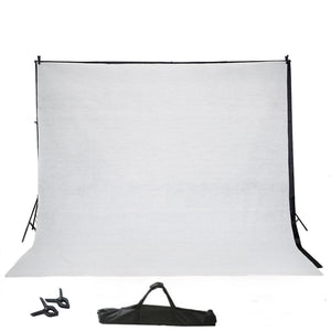 10Ft Adjustable Photo Video Studio Muslin Background Backdrop Support System Stand - With Free Backdrops