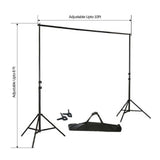 8FT Height Adjustable Photo Video Studio Crossbar Kit Background Backdrop Support System Stand