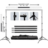 10FT Height Adjustable Photo Video Studio Crossbar Kit Background Backdrop Support System Stand