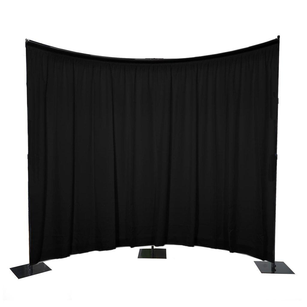 11 Ft Heavy Duty Metal Curved Curtain Backdrop Stand Wedding Stage Decoration