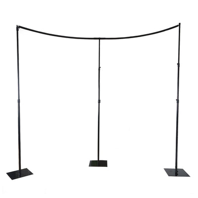 3 PC Set | 11 FT Heavy Duty Metal Curved Curtain Backdrop Stand