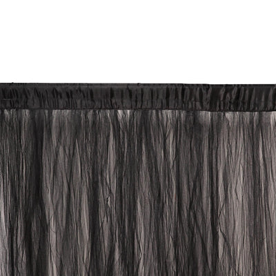 5FTx10FT | Sheer Curtains | Double Sided Tulle Backdrop Curtain Panels | Black Curtains