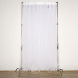 5FTx10FT | White Sheer Tulle Backdrop Panel | White Curtains