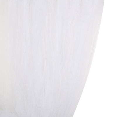 5 FT x 10 FT | Double Sided Tulle Backdrop Sheer Curtain Panels with Satin Rod Pockets | White