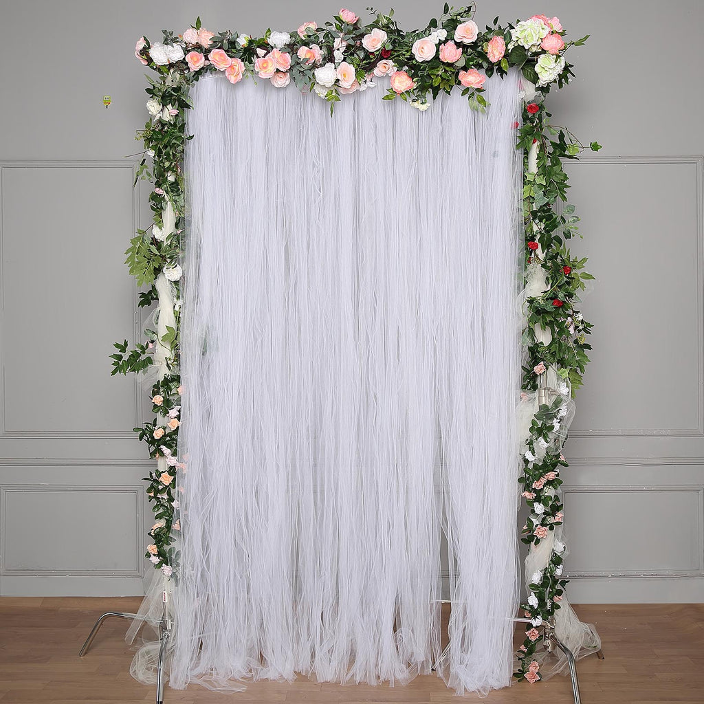 5ftx10ft Sheer Curtain Tulle Backdrop Curtains