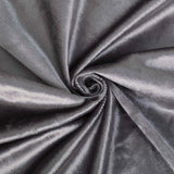 8Ft H x 8Ft W Charcoal Gray Premium Velvet Backdrop Curtain Panel Drape | TableclothsFactory