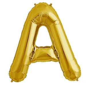 "16"" Shiny Gold Foil Mylar Balloons Letters - A"