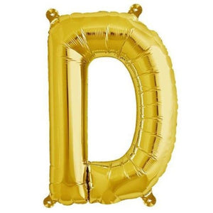 "16"" Shiny Gold Foil Mylar Balloons Letters - D"