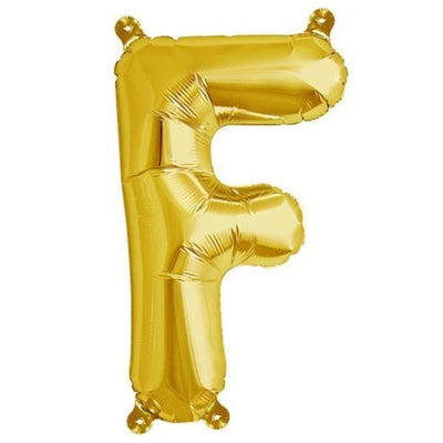 "16"" Shiny Gold Foil Mylar Balloons Letters - F"