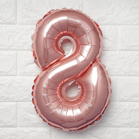 16 Blush Mylar Foil Number Helium Balloons Birthday Party