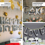 "16"" Silver Foil Mylar Balloons Numbers - 5"