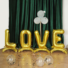 "27"" Shiny Gold Self Standing Letter & Number Balloons, Helium Foil Mylar Balloons"