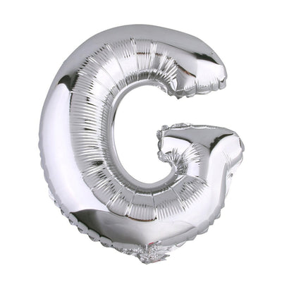"40"" Silver Foil Helium Mylar Balloons Letters - G"