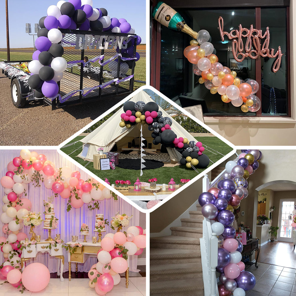 WIFUN 2 Rolls Balloon Arch Garland Decorating Strip Tape Birthday Party Decoration. 16 Feet Double Hole Balloon Tape Strips for Wedding