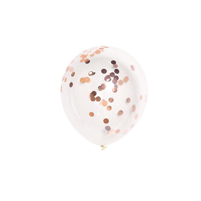 "10 Pack | 12"" Clear Confetti Balloons 