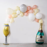 39inch Champagne Bottle and Goblet Mylar Foil Air Helium Balloons Set
